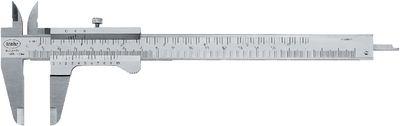 "Caliper gauge MarCal 16 FN Vernier mm/ inch, locking screw ,150 / 0.05 - 1/128"""