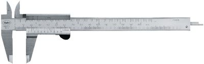 "Caliper gauge MarCal 16 DN Vernier mm/inch, thumb locking,150 / 0.05 - 1/128"""