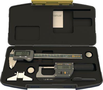 Measuring tool set SYLVAC IP67 3 pieces, in plastic case,BASIC-DIGITAL