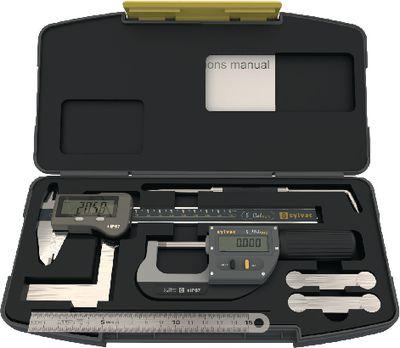 Measuring tool set SYLVAC IP67 7 pieces, in plastic case,LARGE-DIGITAL