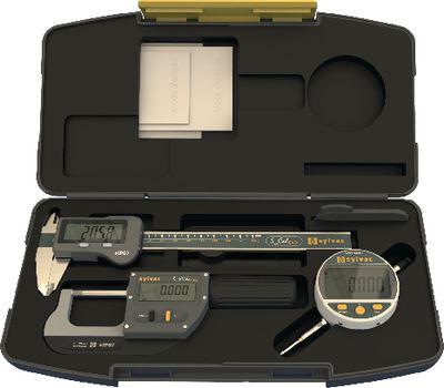 Measuring tool set SYLVAC IP67 3 pieces, in plastic case,WORK ADVANCED-DIGITAL