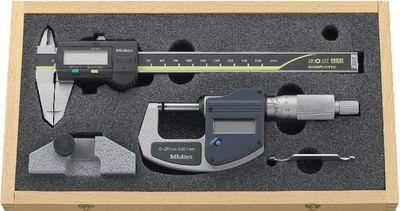 Measuring tool set MITUTOYO 3-pieces, wooden case,BASIC-DIGITAL