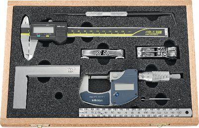 Measuring tool set MITUTOYO 7-pieces, wooden case,CLASSIC-DIGITAL