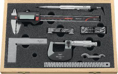 Measuring tool set MAHR 7-pieces, wooden case,CLASSIC-DIGITAL