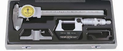 Measuring tool set TESA 3-piece, in plastic case,DUO-SET-DIAL 2