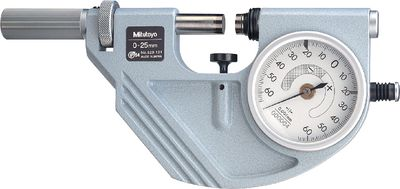 Mikrometar analogni MITUTOYO s mjernom urom,0...25 / 0.0001 / IP54