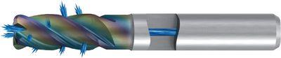 Aluminium mill cutter FRANKEN 1034RZ, CrN, DIN 844k, IK, HA, ,O16.0 x r2 x 32.0