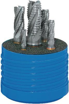 Set of roughing end mills FRANKEN 1271C, TiCN, DIN 844K, HSS-Co5,6-16
