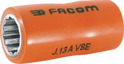 """Ključ nasadni 12 kt 3/8"""" FACOM 1000-volt insulation, 10 mm"""