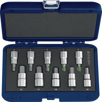 """Ključevi nasadni 1/2"""" inbus NERIOX / 10 kom / 4...19 mm"""