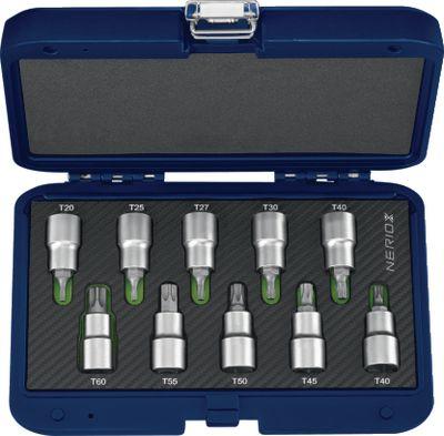 """Ključevi nasadni 1/2"""" TORX® NERIOX / 10 kom / T20...T60"""