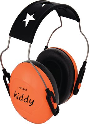 Children's ear protectors KIDDY,Fluorescent orange