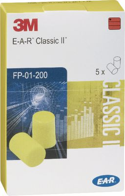 Hearing protection earplugs 3M EAR,Handy pack of 5 pair