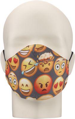 Maska za lice NERIOX dvoslojna, Emotikoni