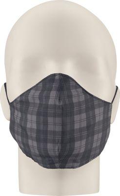 Maska za lice NERIOX dvoslojna, Crna/siva karirana