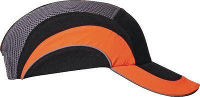 Industrial bump cap HardCap A1+,black/orange