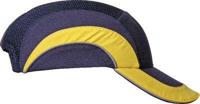 Industrial bump cap HardCap A1+,blue/yellow