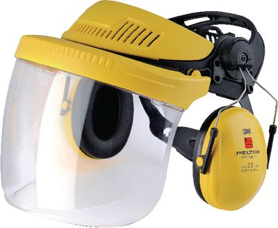 Head mount G500V polycarbonate visor Peltor,Optime I