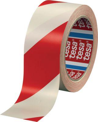 Podna traka za označavanje i upozorenje tesa®, 60760, 50 mm x 33 m, crvena/bijela
