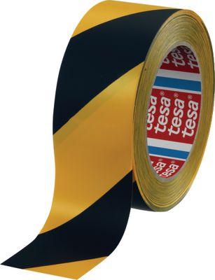 Podna traka za označavanje i upozorenje tesa®, 4169, 50 mm x 33 m, žuta/crna