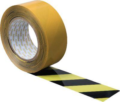 Floor marking tape ORGATEX,Black/yellow, 38 mm x 50 m