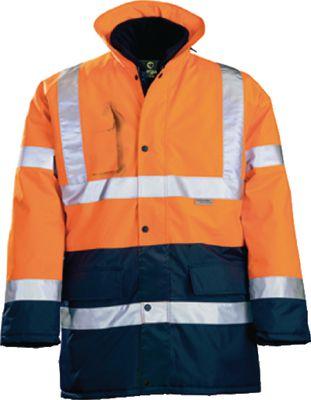 Radna jakna visoke vidljivosti (Hi-Vis) parka HI-WAY, narančasta vel. L